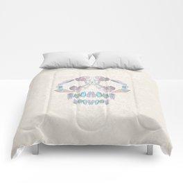 Aurora Quartz Skull Comforters