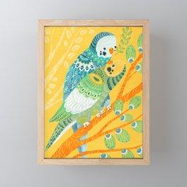 Parakeet Pals Framed Mini Art Print