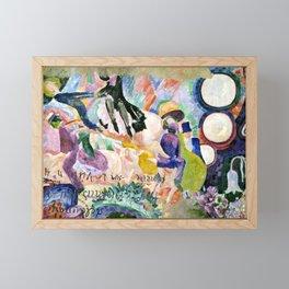 "Robert Delaunay ""Carousel of Pigs (Fr: Manege de cochons)"" Framed Mini Art Print"