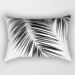 Black Palm Leaves Dream - Cali Summer Vibes #2 #tropical #decor #art #society6 Rectangular Pillow