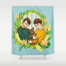 One Happy Family Shower Curtain
