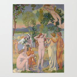 lorde in 'eros is struck by psyche's beauty' by maurice denis, 1908 Poster