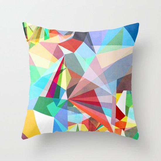 Colorflash 5 Throw Pillow