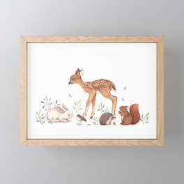 Woodland Friends Framed Mini Art Print