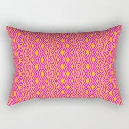 Pink and Orange Tribal Pattern Rectangular Pillow