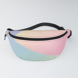 Geometric abstract pastel rainbow colors Fanny Pack