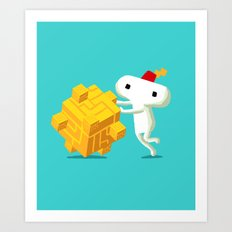 The Prince with a FEZ Art Print