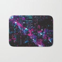 Cyberpunk Vaporwave City Bath Mat