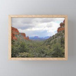 Sedona Canyon Landscape by Reay of Light Framed Mini Art Print