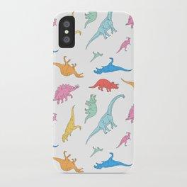 Dino Doodles iPhone Case