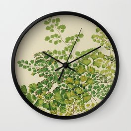 Maidenhair Ferns Wall Clock