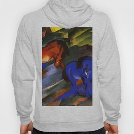 """Franz Marc """"Red and Blue Horses"""" Hoody"""