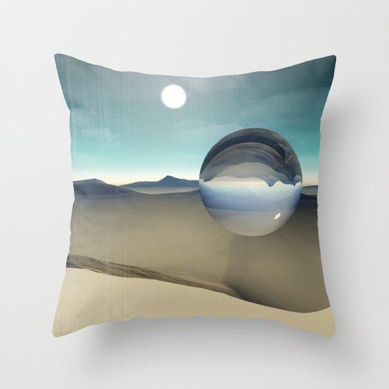 desert sphere void Throw Pillow