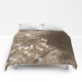 Brown Illusion Comforters