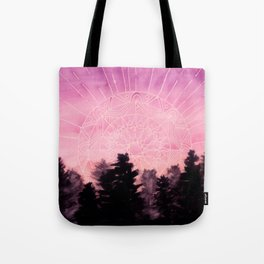 Sunrise Mandala Watercolor Tote Bag