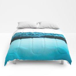 Clinton Gulch // Scenic Sunset Colorado Mountain Range Lake Forest Landscape Photography Decor Comforters