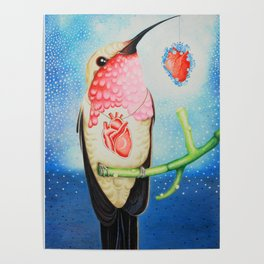 Offering the heart Poster