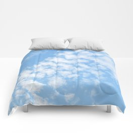 Summer Sky with fluffy clouds Comforters