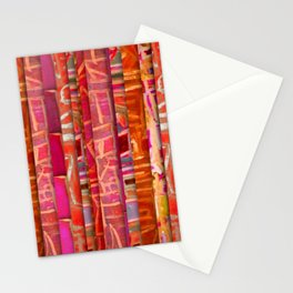 NUMBER 195 orange pink red pattern Stationery Cards