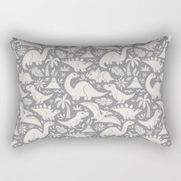 Delightful Dinos (gray) Rectangular Pillow