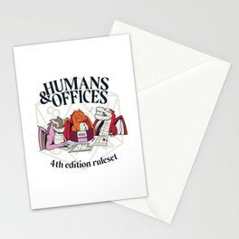 Humans and Offices Dragon RPG Stationery Cards