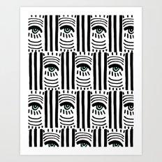 Graphic Eyes Art Print