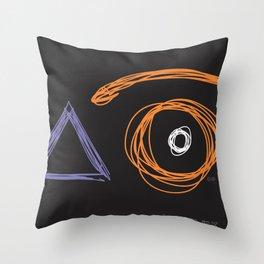x eye Throw Pillow