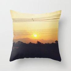Sunset Sayonara Throw Pillow