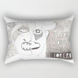 El toro que quería ser torero Rectangular Pillow