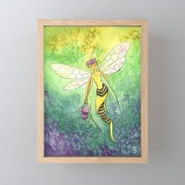 The Bee Faery Framed Mini Art Print
