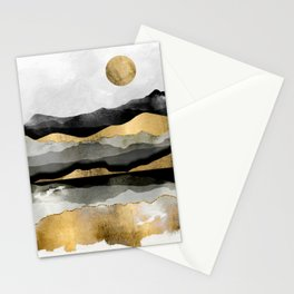 Golden Spring Moon Stationery Cards