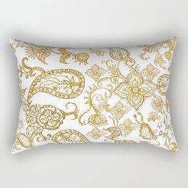 India henna pattern Rectangular Pillow
