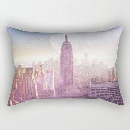 I LOVE PINK NEW YORK CITY SKYLINE - Full Moon Universe Rectangular Pillow