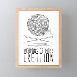 Weapons Of Mass Creation - Knitting Framed Mini Art Print
