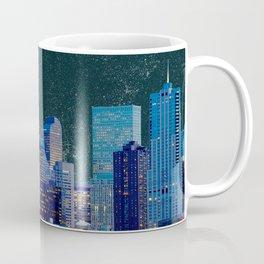 Blood Moon over Denver Colorado Skyline Coffee Mug