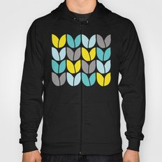 Tulip Knit (Aqua Gray Yellow) Hoody
