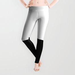 WHITE-BLACK Leggings