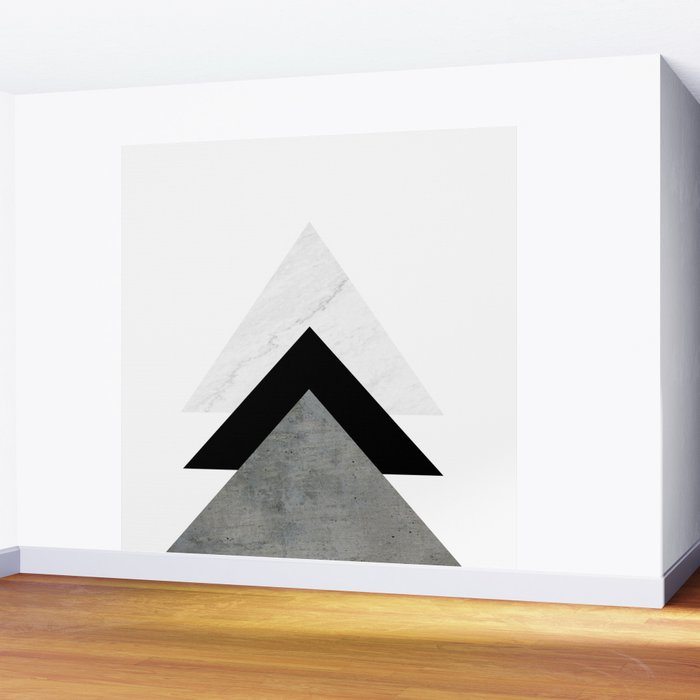 Arrows Monochrome Collage Wall Mural