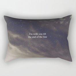 Till the End of the Line Rectangular Pillow