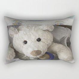 teddy bear surprise Rectangular Pillow