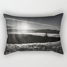 Truckee Sunrise in black and white Rectangular Pillow