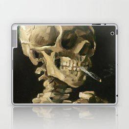 Van Gogh Head of a skeleton with a burning cigarette Laptop & iPad Skin