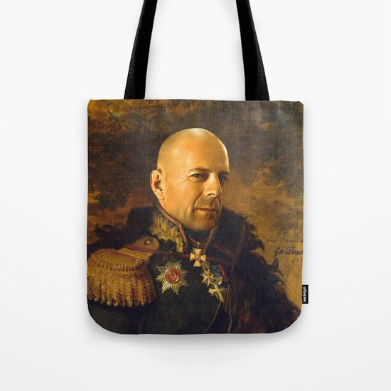 Bruce Willis - replaceface Tote Bag