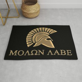Molon lave-Spartan Warrior Rug