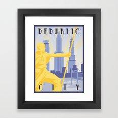 Republic City Travel Poster Framed Art Print