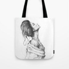 Pretty Lady Illustration Woman Portrait Beauty Tote Bag