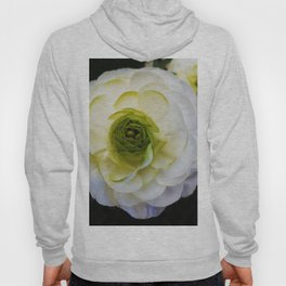 white and green flower Hoody