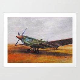 Vintage Plane II Art Print