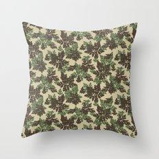 Raccoon Lake - Green Throw Pillow