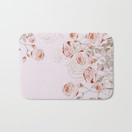 FRENCH PALE ROSES Bath Mat